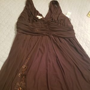 Brand New Chocolate Embellished Dress
